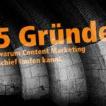 Content Marketing die 5 häufigsten fehler
