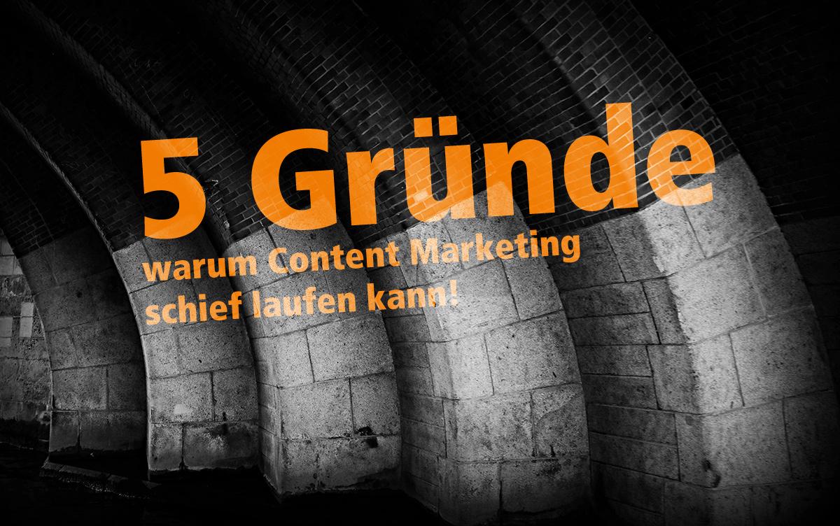 Content Marketing – Diese 5 Fehler vermeiden