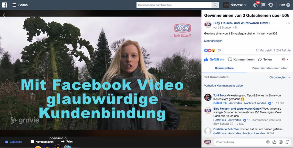 Facebook Video wird für Kundenbindung immer wichtiger
