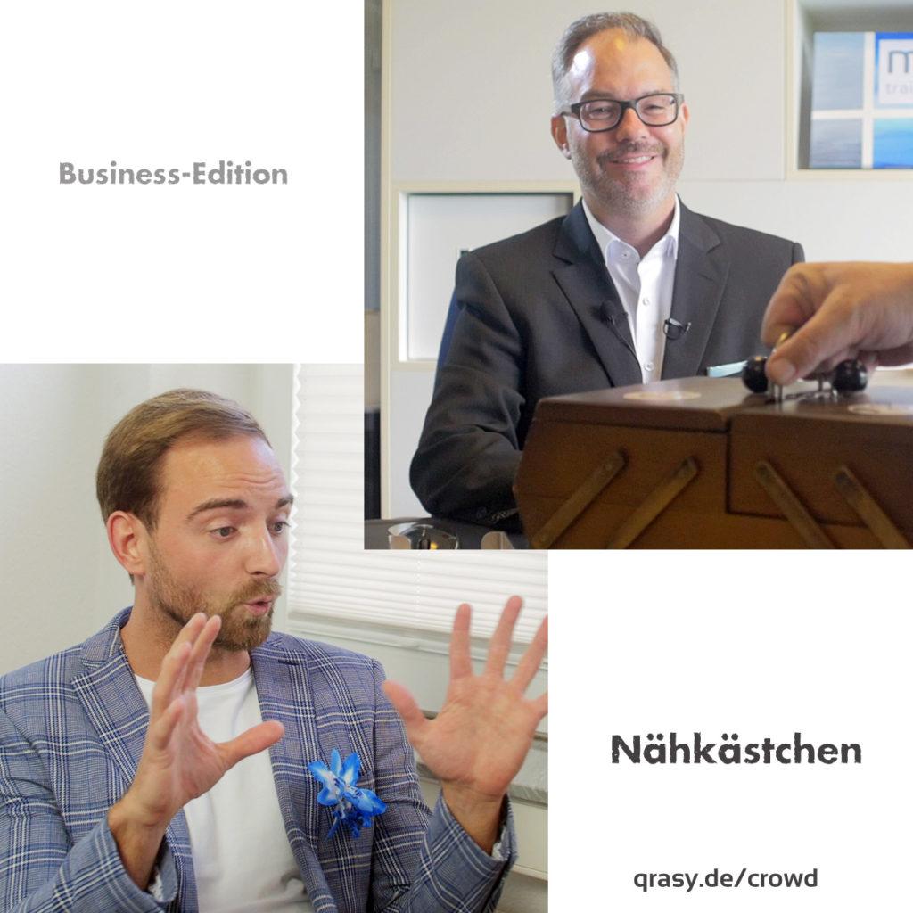 Crowdfunding Kampagne für Business Nähkästchen neuer Unternehmerkanal in Youtube