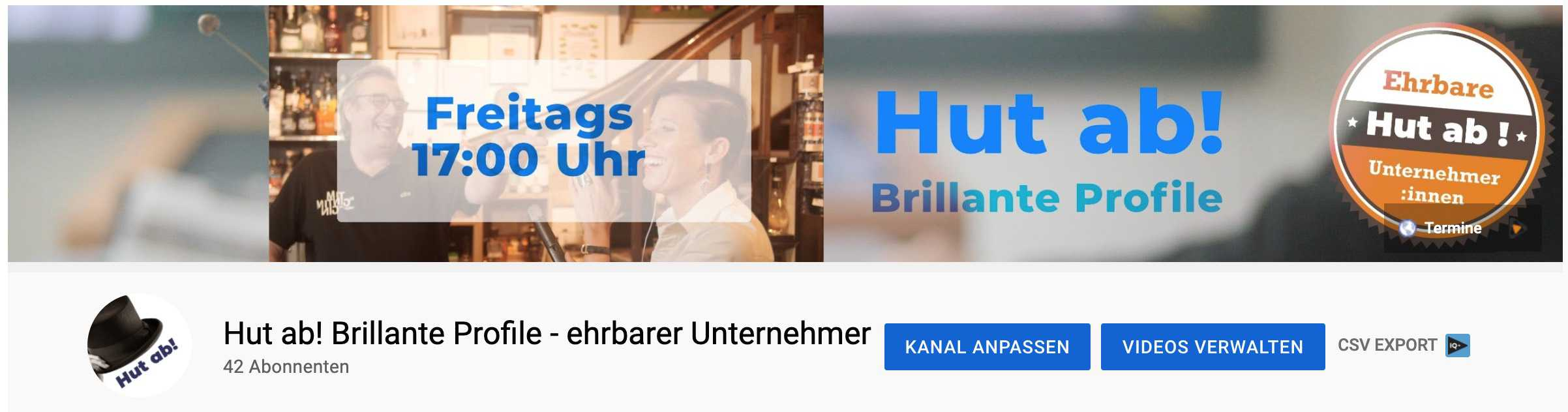 YouTube Kanal header