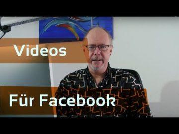 Extra Videos fu?r Facebook erstellen?